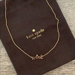 Kate Spade wink Gold Necklace